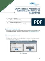 IGFEJ-SITAF-SIGNIUS-Manual de Utilização de Entrega de Peça Processual pelo Mandatários