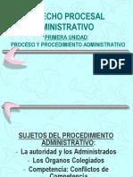 Derecho Procesal Administrativo 4 SUJETOS PROC ADM