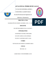 INFORME 6 - ELABORACIÓN DE CONSERVA DE FRIJOL A PH MAYOR A 4.5 - ESTERILIZACIÓN (1)