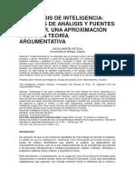 EL ANÁLISIS DE INTELIGENCIA Técnicas de análisis y fuentes de error