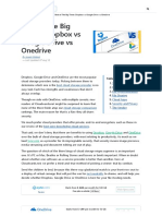 Best of Dropbox Google Drive and Onedrive