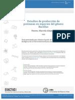 Estudios de producción de proteasas- Bacillus- Ferrero