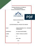 Trabajo de Derecho Procesal Civil - Procesos Contenciosos