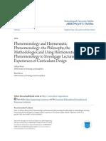 Phenomenology and Hermeneutic Phenomenology_ the Philosophy the.pdf