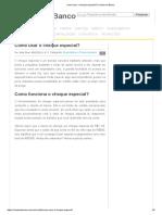 Contaembanco - Cheque especial