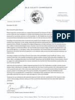 Hudson letter regarding police jurisdictions