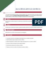 PLANIFICACIÓN DEL CURSO DE ESCRITURA Y PUBLICACIÓN DE ARTÍCULOS CIENTÍFICOS