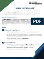 CONVOCATORIA_ Mentor Modelo
