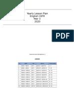 Yearly Scheme of Work Year CEFR 3 2020