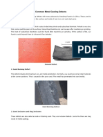 Common Metal Casting Defects