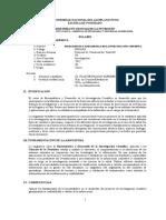 SILABO BIOESTADÍSTICA Y DESARROLLO DE LA INVESTIGACIÓN CIENTÍFICA