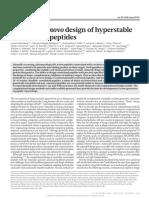 2016 Accurate de novo design of hyperstable