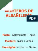 Morteros de Albañilería