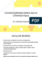 Corneal Epithelial Defect due to Chemical Injury Final