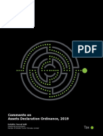 Comments on Assets Declaration Ordinance, 2019-deloittepk-noexp