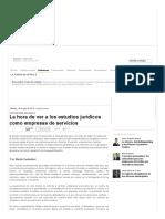 Consultoría- Estudios jurídicos como empresas de servicios