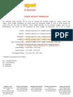 shape-weight-formulas