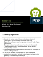 Week 4 New Models of Leadership - Lecture