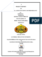 Study Of Internal Audit Performance and management