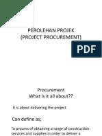 Bab 4 Perolehan Projek