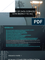 Future of data sciences with respect to HCI