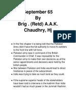 Book 1 ( September 65)  Brig. (Retd) A.A.K. Chaudhry, Hj (1)