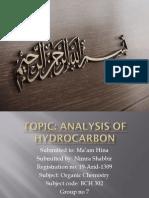 Analysis of Hydrocarbon.pptx