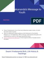 Swami Vivekananda's Message to Youth