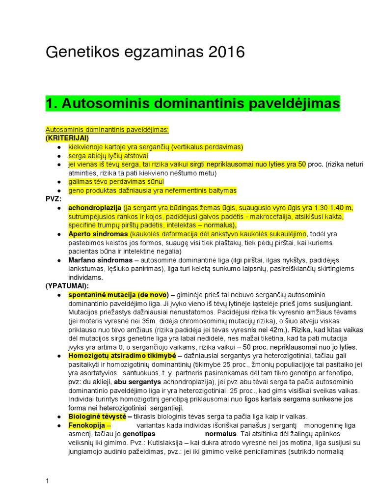 hipertenziją žmonėms lemia dominuojanti autosominė
