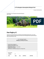 Gmail - Your e-Ticket Confirmation for The Bengaluru Bannerghatta Biological Park