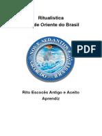 ORIENTAÇÃO RITUALÍSTICA APRENDIZ GOB REAA