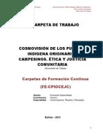 COSMOVISIÓN DE PUEBLOS ORIGINARIOS