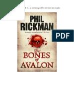 John Dee, King Arthur - The Bones of Avalon by Phil Rickman. 2010