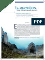 El agua atmosférica para consumo humano