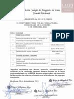 CAL Comité Electoral - Comunicado 39