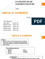 Case_Merck and Company Solution