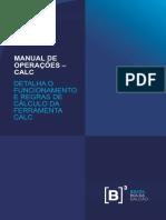 B3 - Manual de Operacoes CALC 20180620