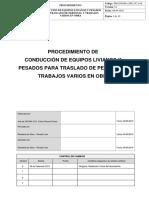 04 PRO.ssomA.seg.UCA.06-Procedimiento de Seguridad Conducción de Equipos Livianos y Pesados Para El Traslado de Personal y Trabajos Varios en o