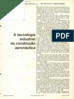 A tecnologia industrial da construção aeronáutica, 1974
