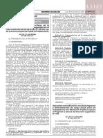 Decreto supremo N° 409-2019-EF