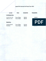 Cemetery Fee Schedule