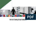 Service Catalog Jython Validation