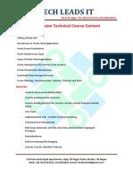 Fusion Technical course content latest