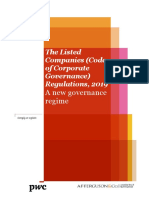 AFF's document on the Listed Companies (Code of Corporate Governance) Regulations, 2019