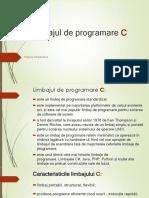 Limbajul de programare C - introducere