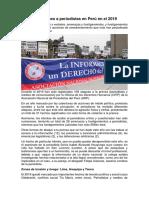 Nota de Prensa - Ataques a periodistas 2019