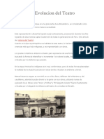 Historia y Evolucion del Teatro Peruano