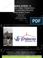 Evidencia5 Video Presenting orally a business  process  improvement plan