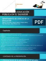 Feria-investigación-2015-ESTADO-DE-LA-EDUCACIÓN-EN-EL-SALVADOR