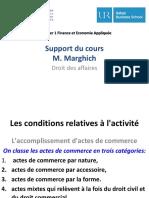 Actes de Commerce M1 FEA